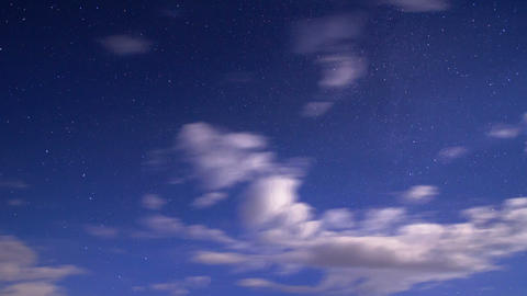 Night sky. Time Lapse Stock Video Footage