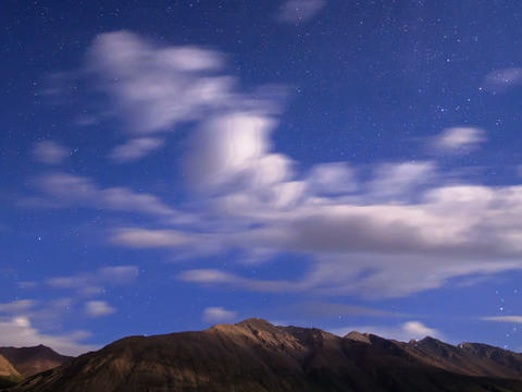Night in the mountains. Time Lapse Footage