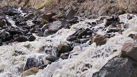 White mountain river. Slow-motion Stock Video Footage