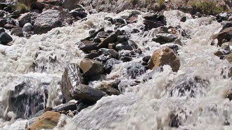 White mountain river. Slow-motion Stock Video Footage