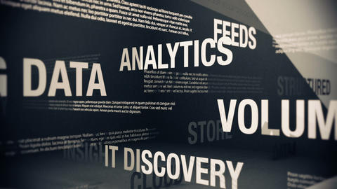 Big Data Related Terms Stock Video Footage