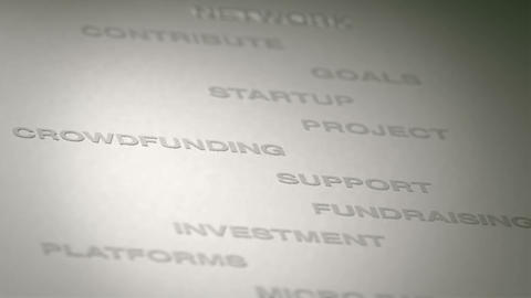 Crowdfunding Concept Animation Stock Video Footage