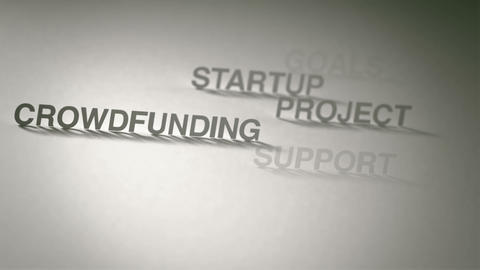 Crowdfunding Concept Animation stock footage