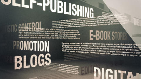 Self-Publishing Related Terms Stock Video Footage