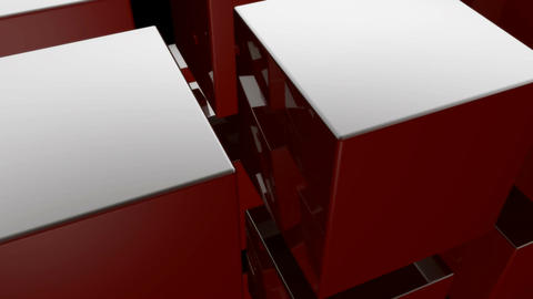 red cube Stock Video Footage