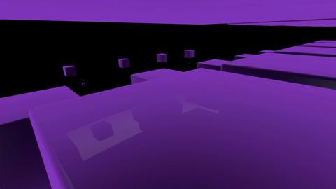 purple cube Stock Video Footage