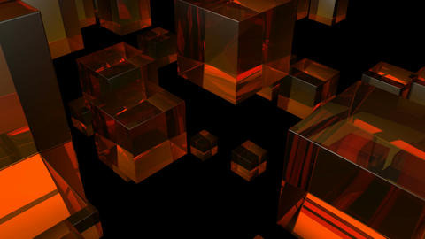 orange glass Stock Video Footage