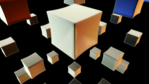 white cube Stock Video Footage
