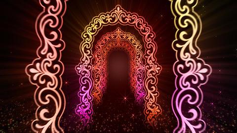 Illuminations gate Stock Video Footage