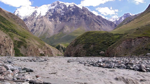 White mountain river Atdzhaylyau Footage