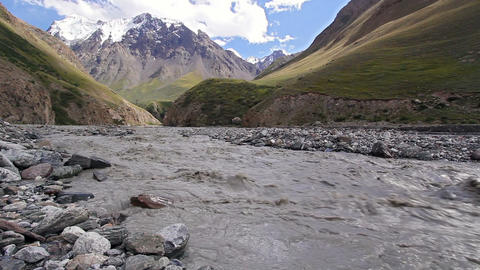 White mountain river Atdzhaylyau Stock Video Footage