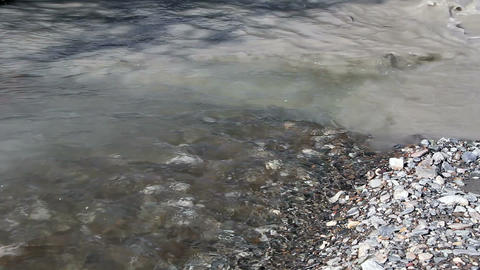 Pure and muddy water are mixed Stock Video Footage