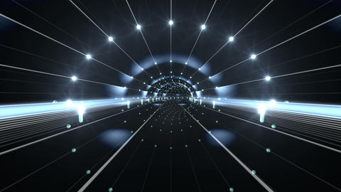 Tunnel tube space road a 4a 3 HD Stock Video Footage