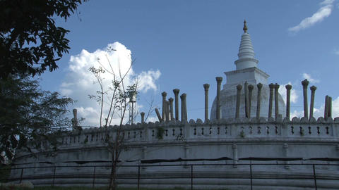 Dagoba in Anuradhapura Stock Video Footage
