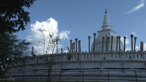 Dagoba in Anuradhapura Stock Video Footage