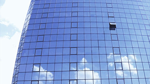 Blue skyscraper Stock Video Footage