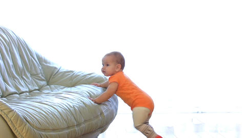 Strong baby Stock Video Footage