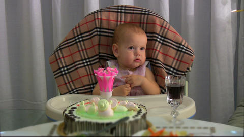 Lighting candle for baby Stock Video Footage