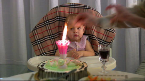 Lighting candle for baby Footage
