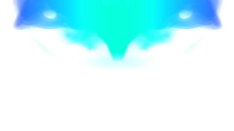 Turquoise smoke Stock Video Footage