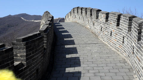 Funny clowns on Great Wall Stock Video Footage