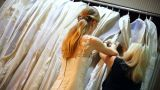 A Bride Shopping stock footage