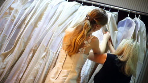 A Bride shopping Footage