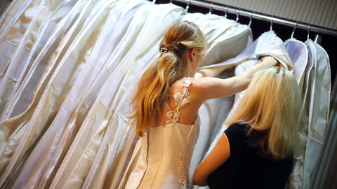 A Bride shopping Stock Video Footage