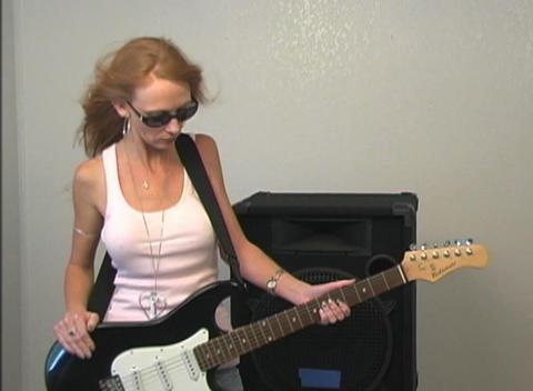 Rocker Girl Stock Video Footage