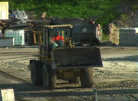 Front Loader on a Construction Site Footage