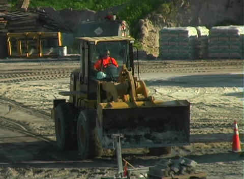 Front Loader on a Construction Site Stock Video Footage