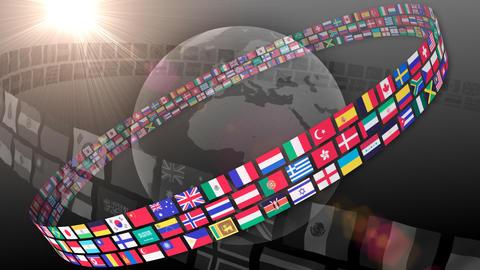 National flag 2 R Ab HD Animation