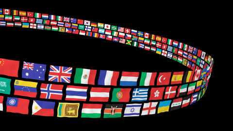 National flag 2 R Cs HD Stock Video Footage