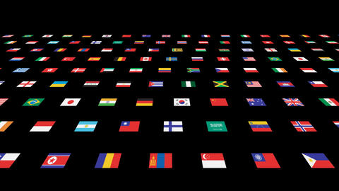 National flag 2 W As Stock Video Footage