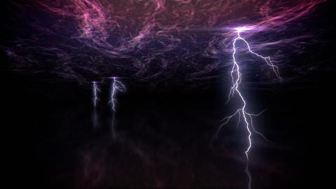 lightning armageddon loop Stock Video Footage