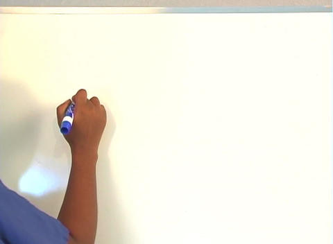 "Beautiful Nurse Writes ""Appendectomy"" on a White Board... Stock Video Footage"