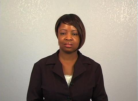 Beautiful Businesswoman Has an Idea Stock Video Footage