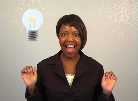 Beautiful Businesswoman Has an Idea Footage