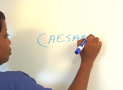 "Beautiful Nurse Writes ""Caesarean Section"" on a White... Stock Video Footage"