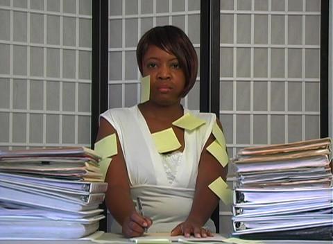 Overworked Businesswoman (2) Stock Video Footage