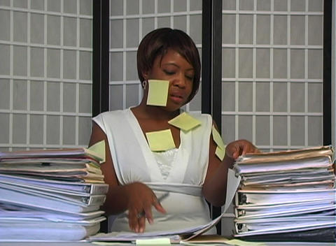 Overworked Businesswoman (2) Stock Video Footage