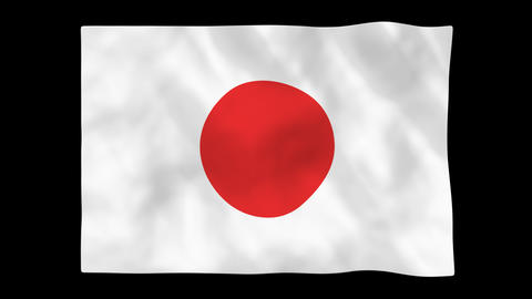 National flag A02 JP JAPAN HD Animation