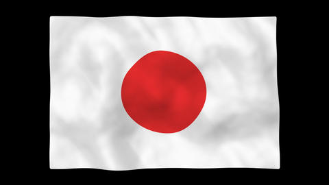 National flag A02 JP JAPAN HD Stock Video Footage