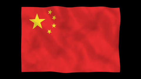 National flag A04 CHN HD Stock Video Footage
