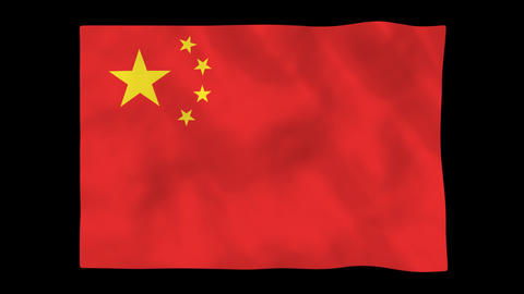 National flag A04 CHN HD Animation