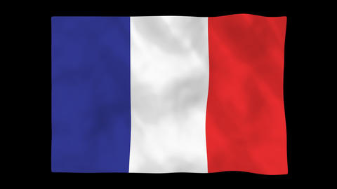 National flag A06 FRA HD Animation