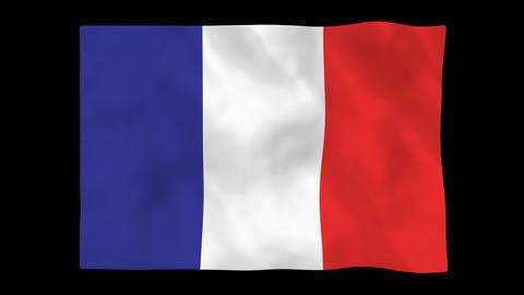 National flag A06 FRA HD Animation