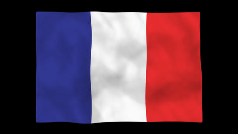 National flag A06 FRA HD Stock Video Footage
