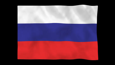 National flag A10 RUS HD Animation
