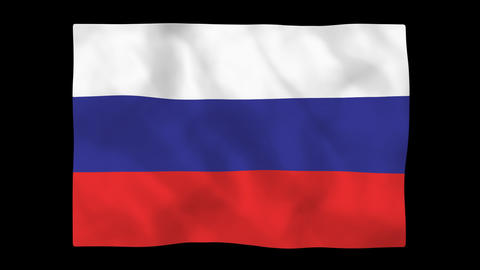 National flag A10 RUS HD Stock Video Footage